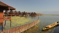 81. upscale resort on Inle Lake shore